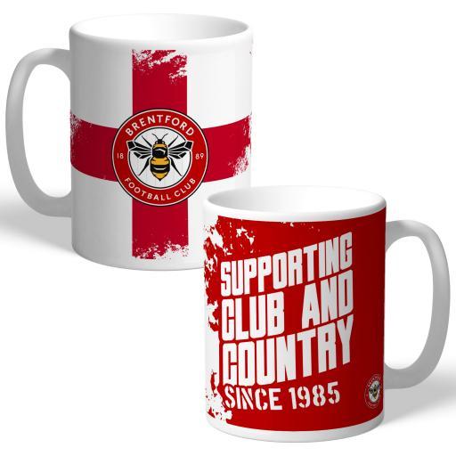 Brentford FC Club and Country Mug