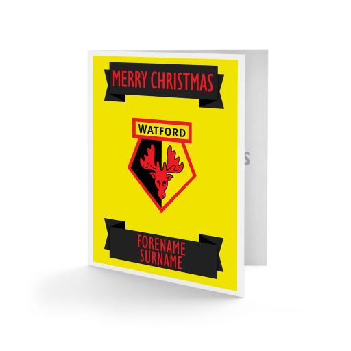 Watford FC Crest Christmas Card