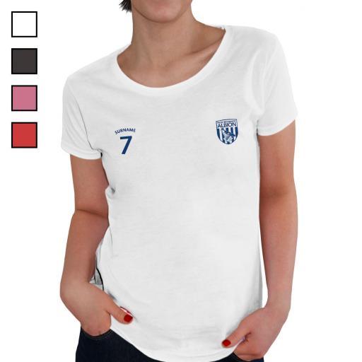 West Bromwich Albion FC Ladies Sports T-Shirt