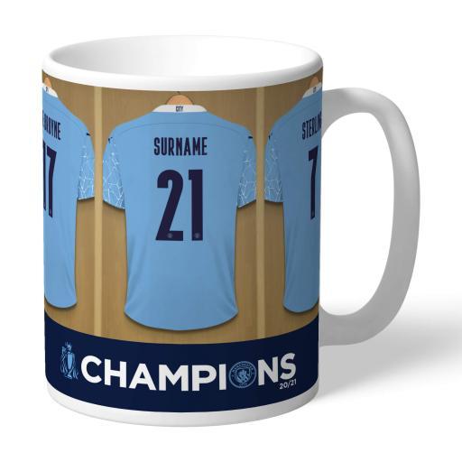 Manchester City FC Premier League Champions 2021 Dressing Room Mug
