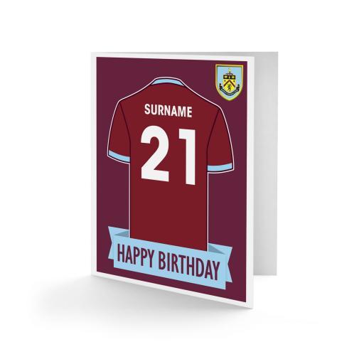 Burnley FC Shirt Birthday Card