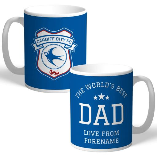 Cardiff City FC World's Best Dad Mug