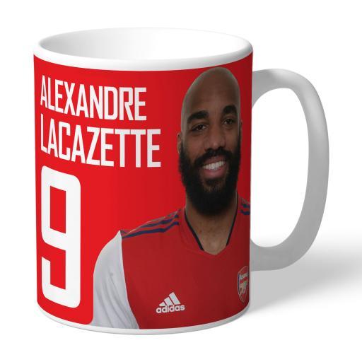 Arsenal FC Lacazette Autograph Mug