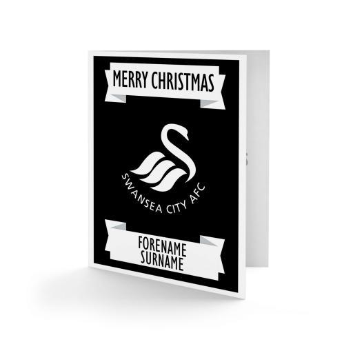 Swansea City AFC Crest Christmas Card