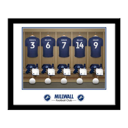 Millwall FC Dressing Room Framed Print