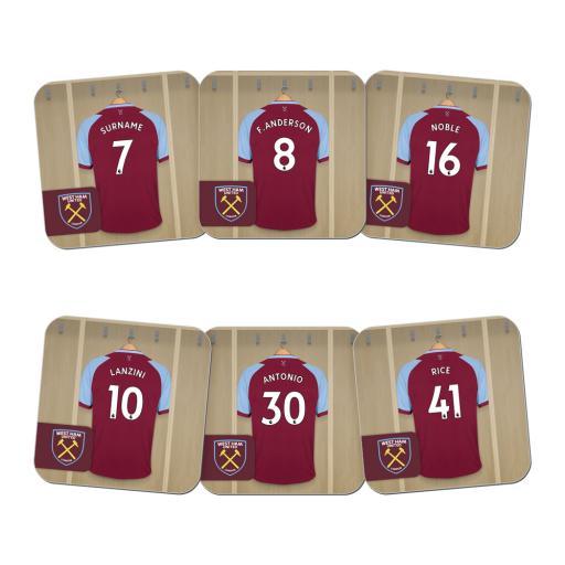 West Ham United FC Dressing Room Coasters