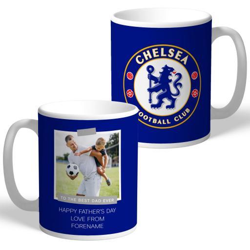 Chelsea FC Best Dad Ever Photo Upload Mug