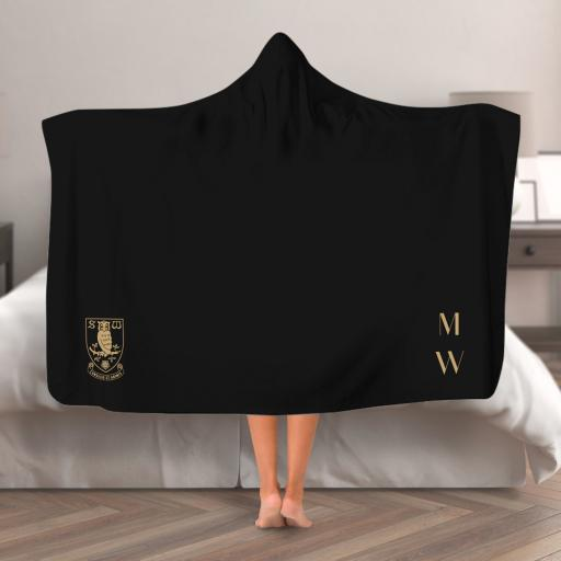 Sheffield Wednesday FC Initials Hooded Blanket (Adult)