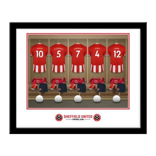 Sheffield United FC Dressing Room Framed Print