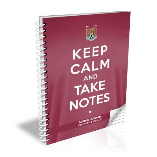 Northampton Town FC Keep Calm Notebook