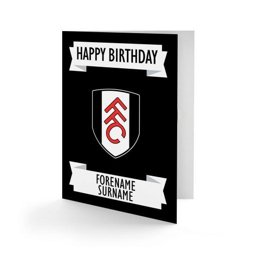 Fulham FC Crest Birthday Card
