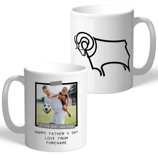 Derby County FC Best Dad Ever Photo Upload Mug