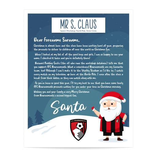 AFC Bournemouth Personalised Letter from Santa