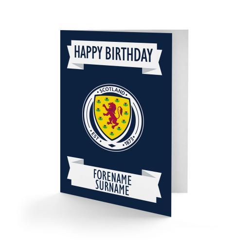Scotland Crest Birthday Card