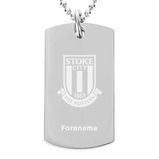 Stoke City FC Crest Dog Tag Pendant