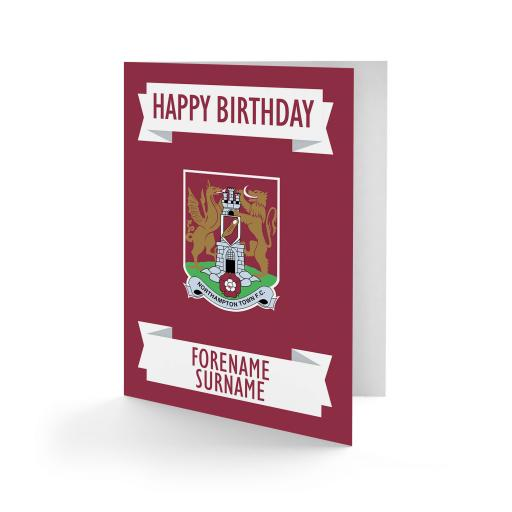 Northampton Town FC Crest Birthday Card