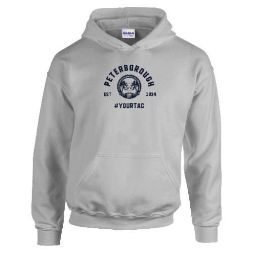 Peterborough United FC Vintage Hashtag Hoodie