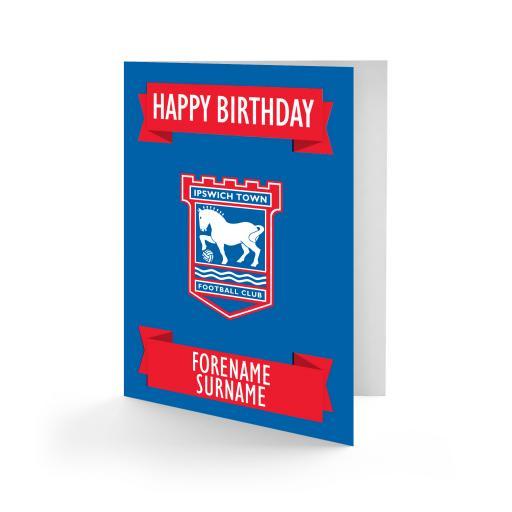 Ipswich Town FC Crest Birthday Card