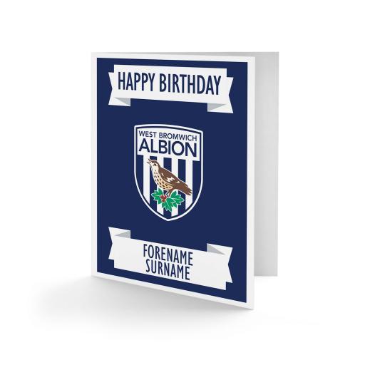 West Bromwich Albion FC Crest Birthday Card