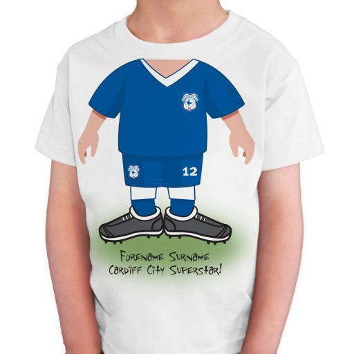 Cardiff City FC Kids Use Your Head T-Shirt