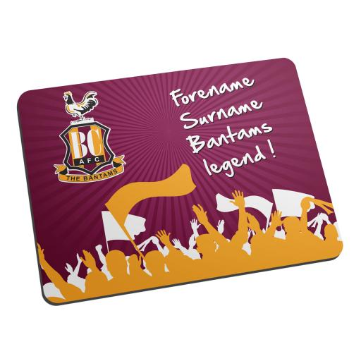 Bradford City AFC Legend Mouse Mat