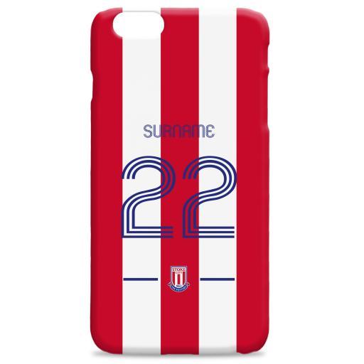 Stoke City FC Retro Shirt Hard Back Phone Case