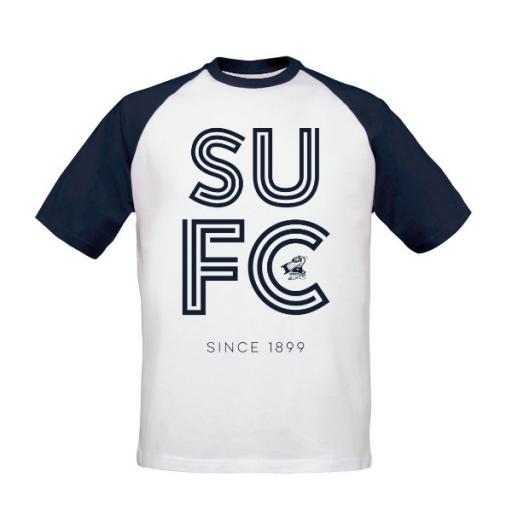 Scunthorpe United FC Stripe Baseball T-Shirt