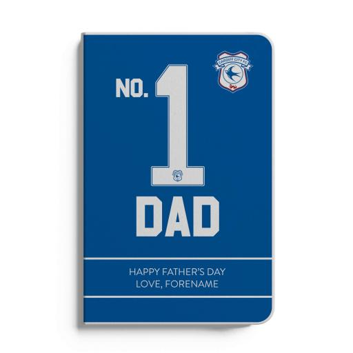 Cardiff City FC No.1 Dad A5 White Lined Notebook