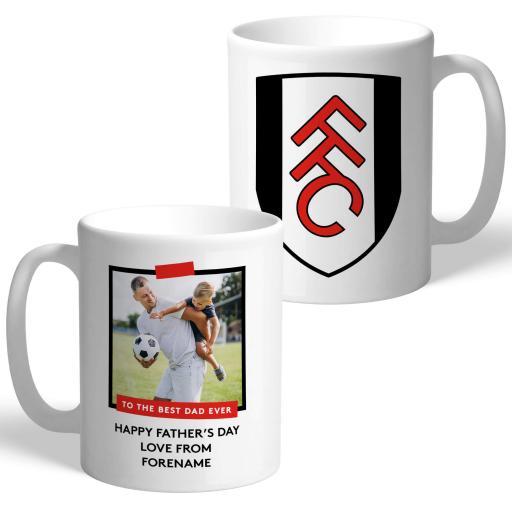 Fulham FC Best Dad Ever Photo Upload Mug