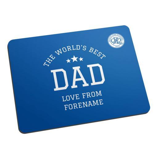 Queens Park Rangers FC World's Best Dad Mouse Mat