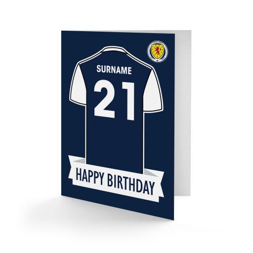 Scotland Shirt Birthday Card