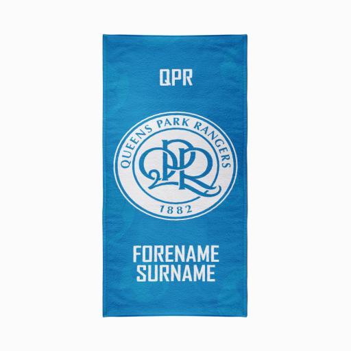 Queens Park Rangers FC Crest Design Towel - 70cm x 140cm