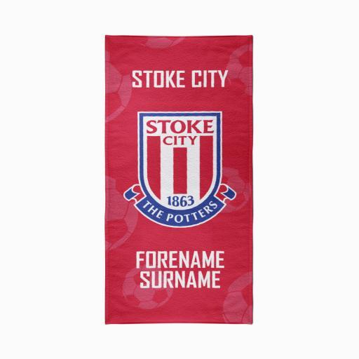 Stoke City Crest Design Towel - 80cm x 160cm