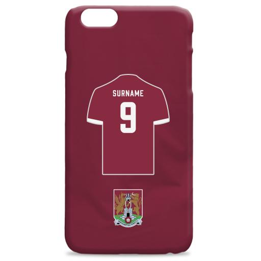 Northampton Town FC Shirt Hard Back Phone Case