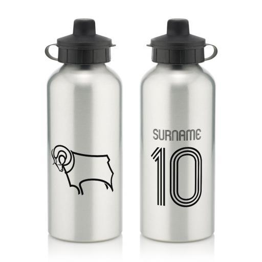 Derby County Retro Shirt Water Bottle