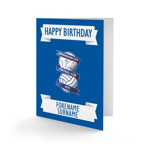 Birmingham City FC Crest Birthday Card