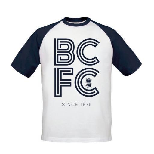 Birmingham City FC Stripe Baseball T-Shirt