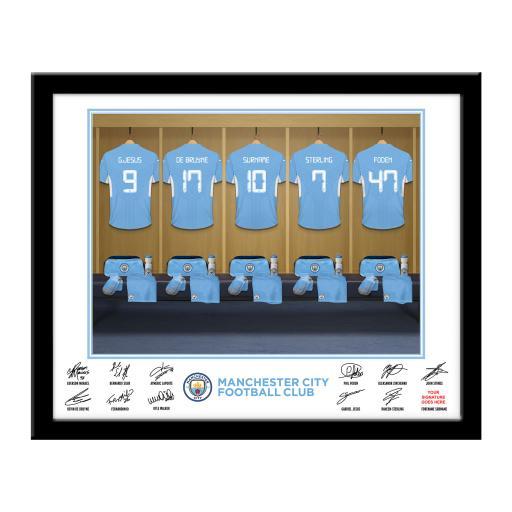 Manchester City FC Dressing Room Framed Print