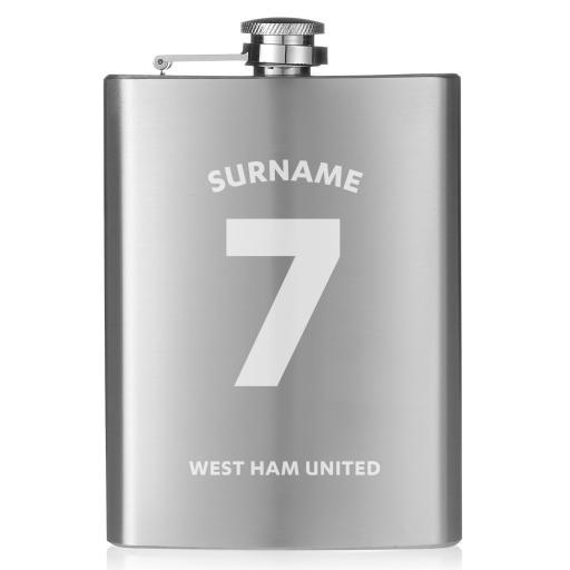 West Ham United FC Shirt Hip Flask