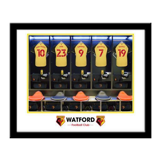 Watford FC Dressing Room Framed Print