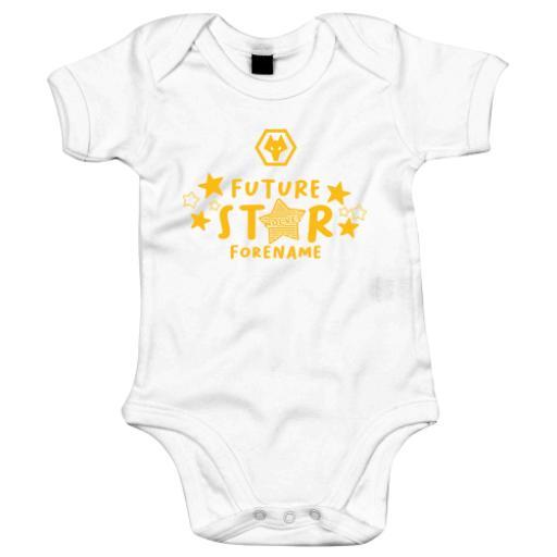 Wolves Future Star Baby Bodysuit