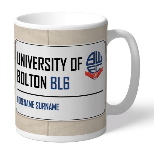 Bolton Wanderers FC Street Sign Mug