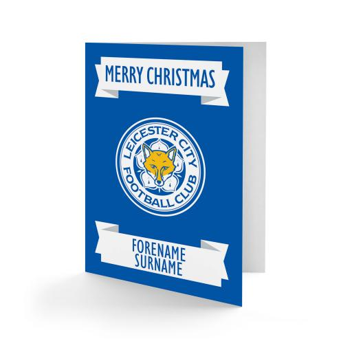 Leicester City FC Crest Christmas Card