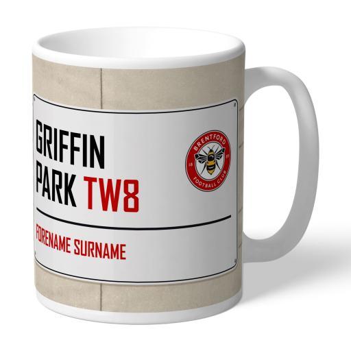 Brentford FC Street Sign Mug