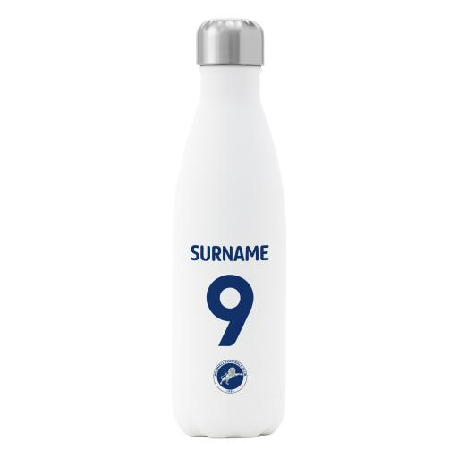 Millwall FC Back of Shirt Insulated Water Bottle - White