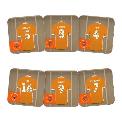 Blackpool FC Dressing Room Coasters