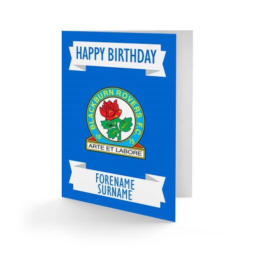 Blackburn Rovers FC Crest Birthday Card
