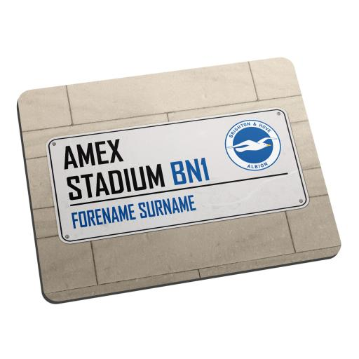 Brighton & Hove Albion FC Street Sign Mouse Mat