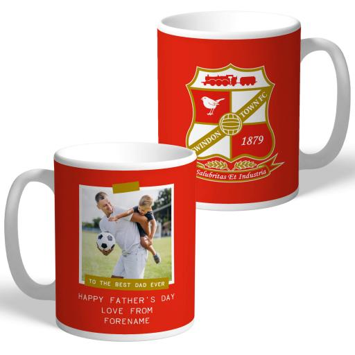 Swindon Town FC Best Dad Ever Photo Upload Mug