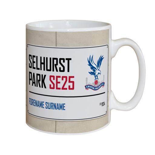 Crystal Palace FC Street Sign Mug